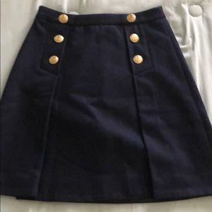 Wool J Crew Nautical skirt